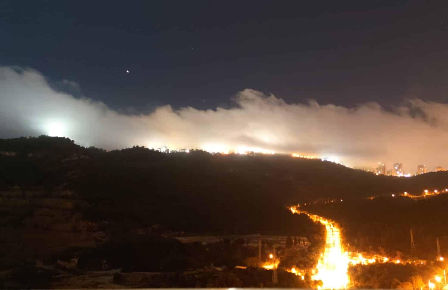 ערפל על רכס הכרמל, צילום: חדשות NWS